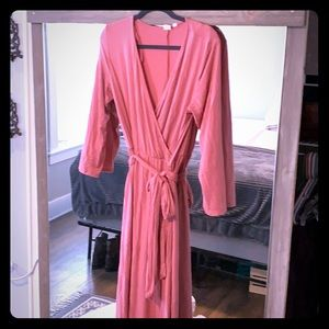 Pink medium length GAP T-shirt dress